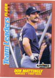 1988 Fleer Team Leaders Baseball Cards 019      Don Mattingly