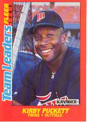 1988 Fleer Team Leaders Baseball Cards 026      Kirby Puckett