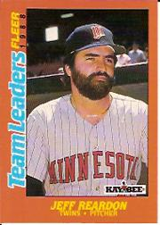 1988 Fleer Team Leaders Baseball Cards 028      Jeff Reardon