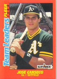 1988 Fleer Team Leaders Baseball Cards 003      Jose Canseco