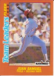 1988 Fleer Team Leaders Baseball Cards 033      Juan Samuel