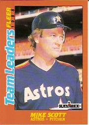 1988 Fleer Team Leaders Baseball Cards 035      Mike Scott