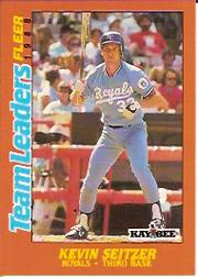 1988 Fleer Team Leaders Baseball Cards 036      Kevin Seitzer