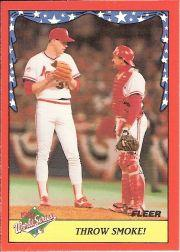 1988 Fleer World Series Baseball Cards 005      Todd Worrell/Tony Pena