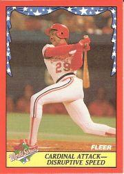 1988 Fleer World Series Baseball Cards 006      Vince Coleman