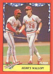 1988 Fleer World Series Baseball Cards 007      Tom Herr/Dan Driessen