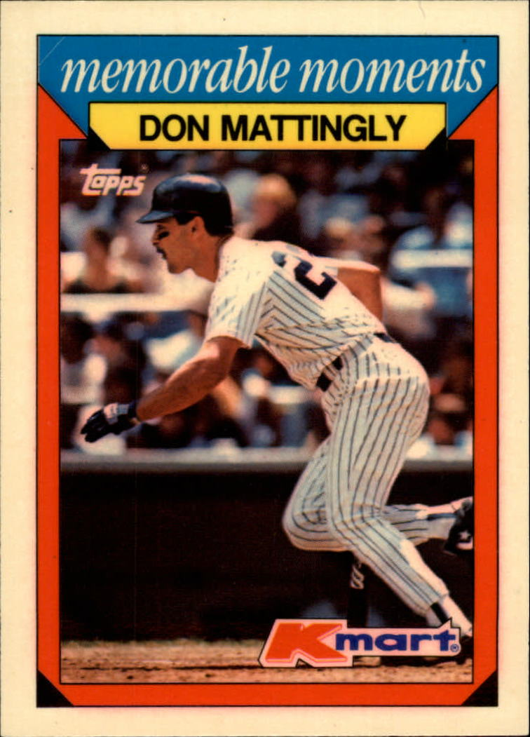 1988 K-Mart Baseball Cards     015      Don Mattingly