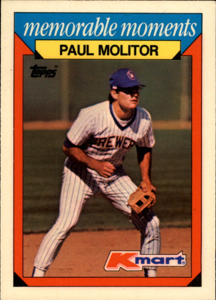 1988 K-Mart Baseball Cards     017      Paul Molitor