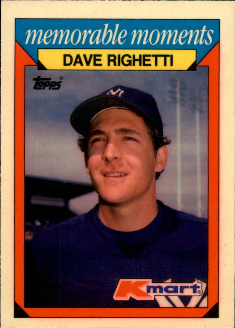 1988 K-Mart Baseball Cards     020      Dave Righetti