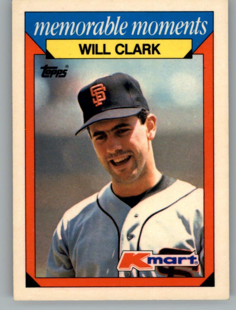 1988 K-Mart Baseball Cards     006      Will Clark