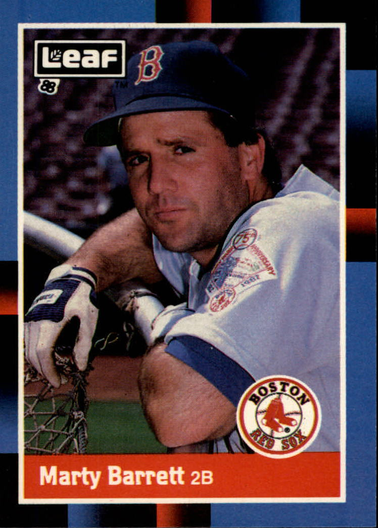 1988 Leaf/Donruss Baseball Cards       141     Marty Barrett