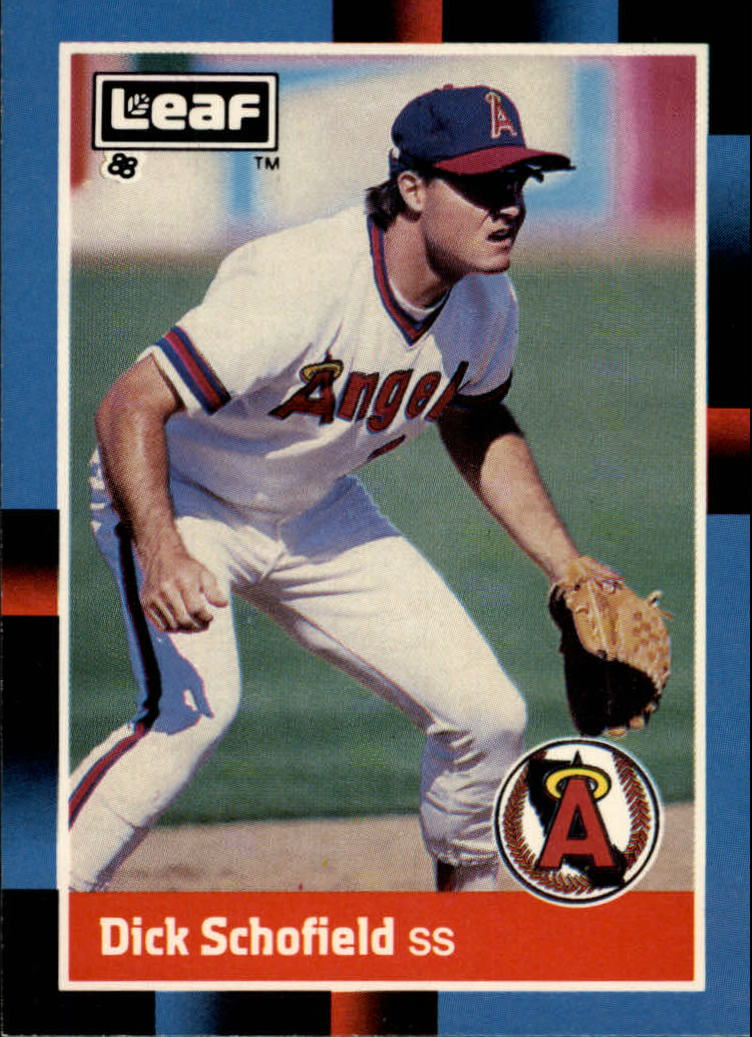 1988 Leaf/Donruss Baseball Cards       178     Dick Schofield