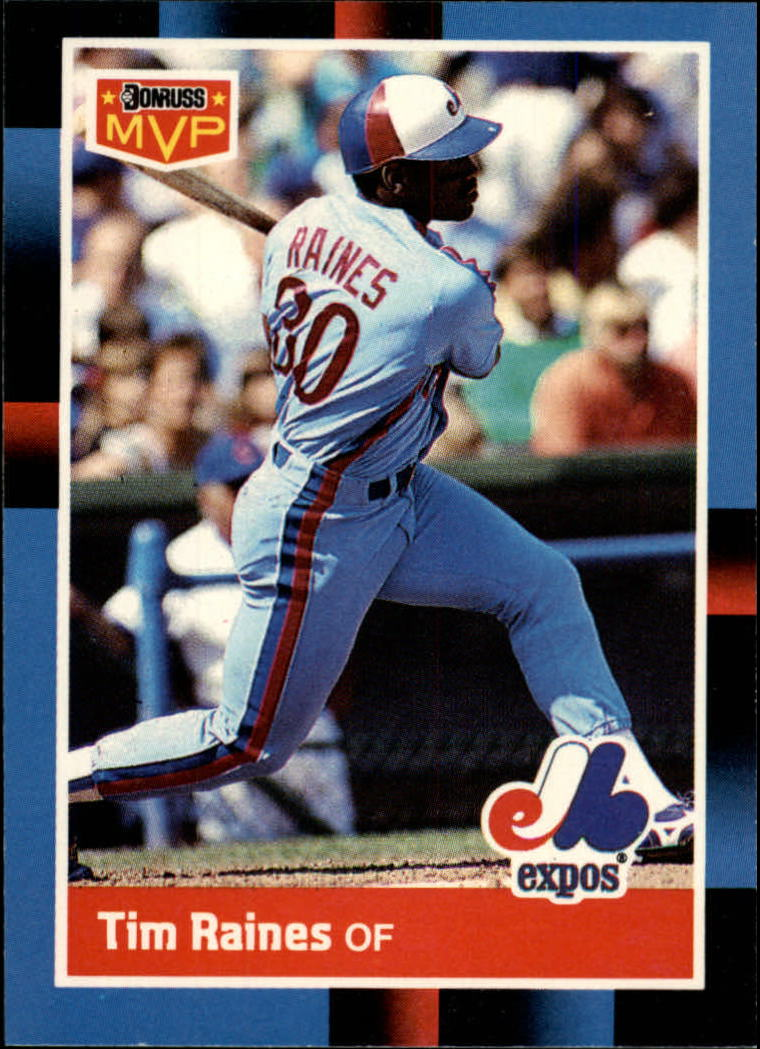 1988 Leaf/Donruss Baseball Cards       211     Tim Raines MVP#{(Bonus card pose)
