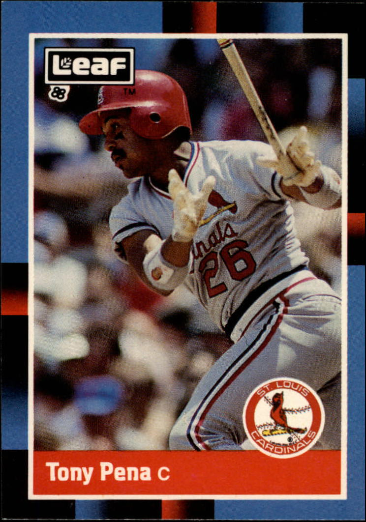 1988 Leaf/Donruss Baseball Cards       095      Tony Pena