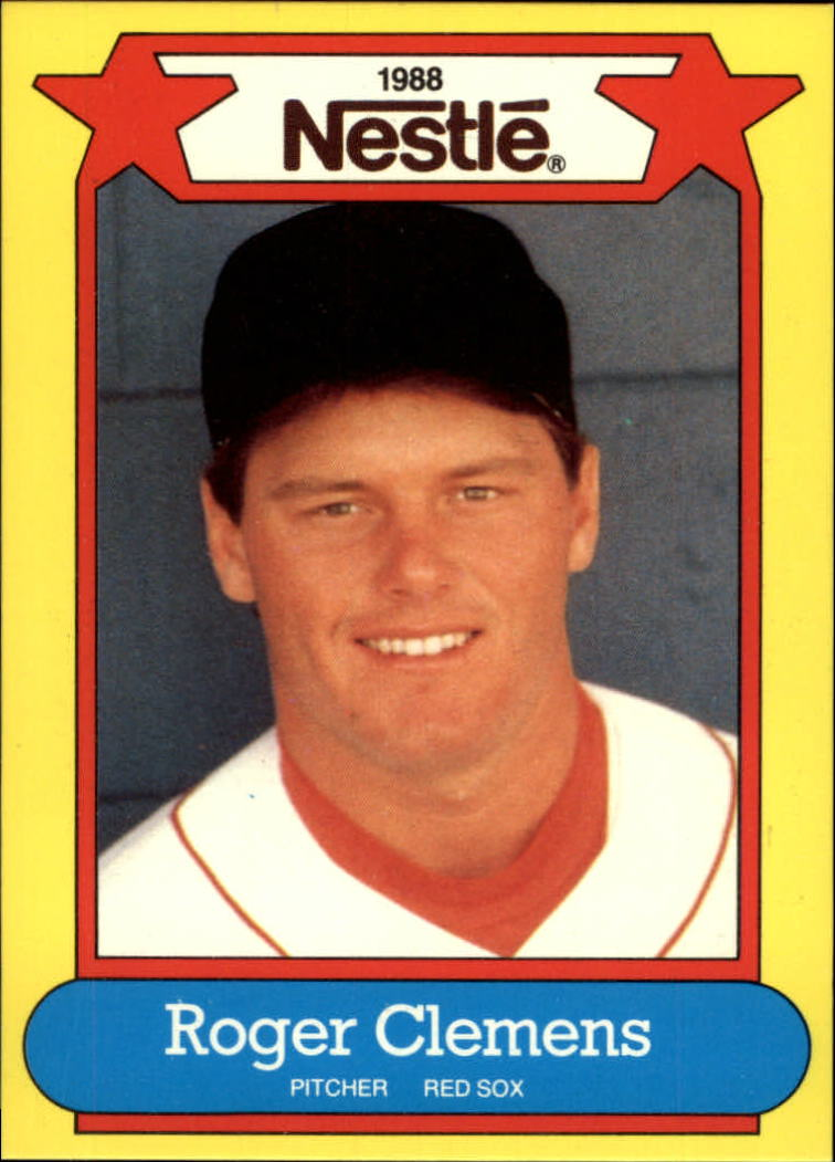 1988 Nestle Baseball Cards     001      Roger Clemens