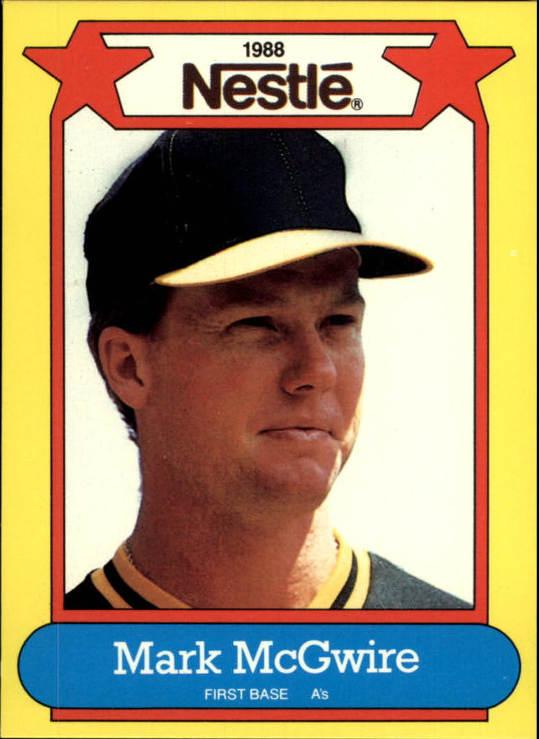 1988 Nestle Baseball Cards     010      Mark McGwire