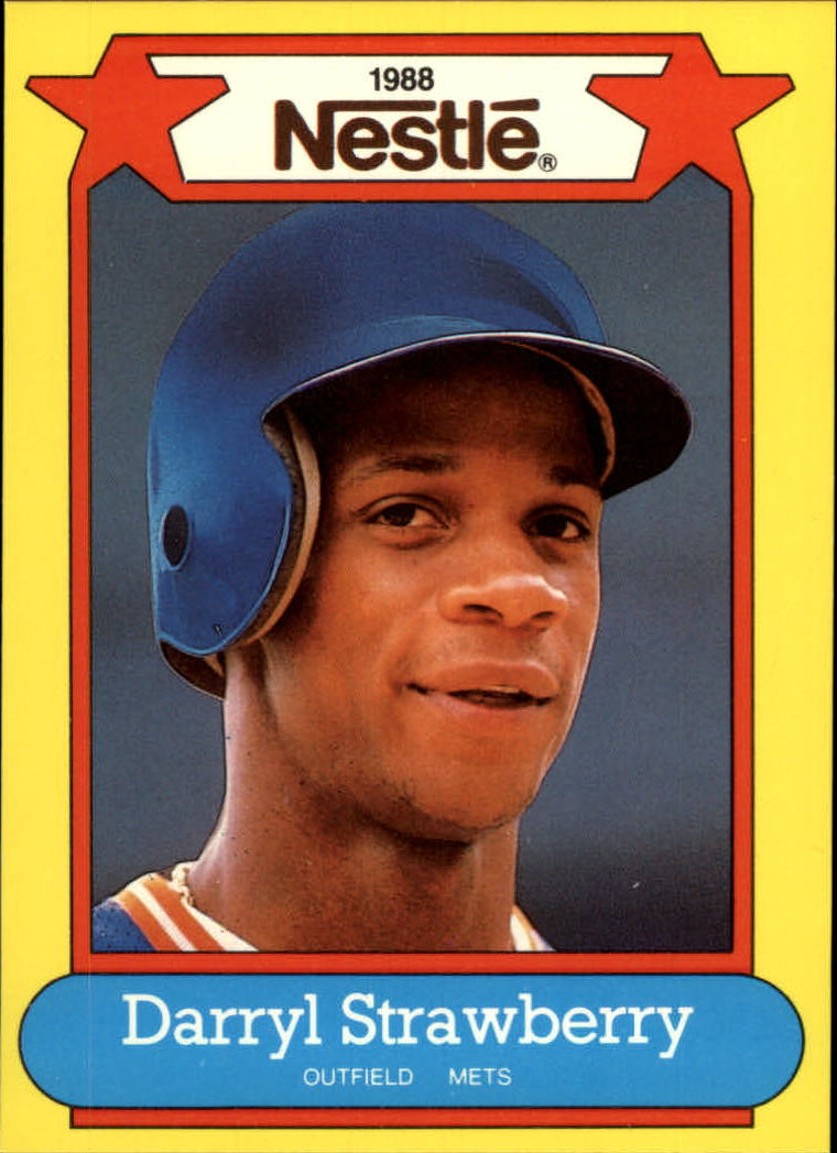 1988 Nestle Baseball Cards     018      Darryl Strawberry