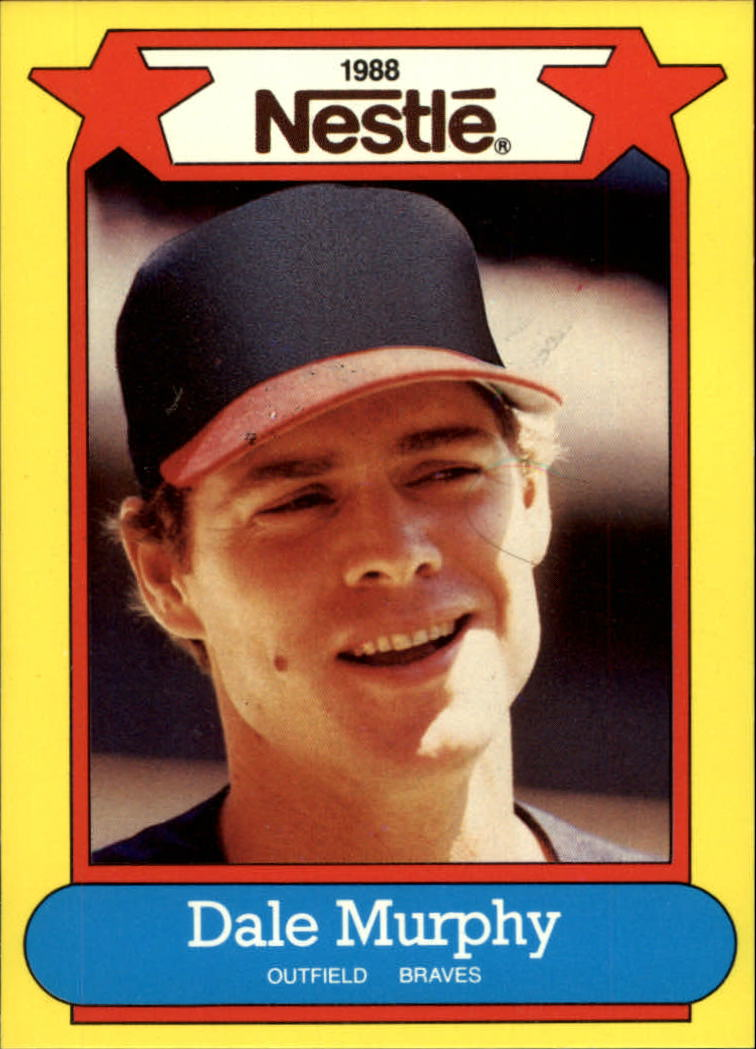1988 Nestle Baseball Cards     002      Dale Murphy