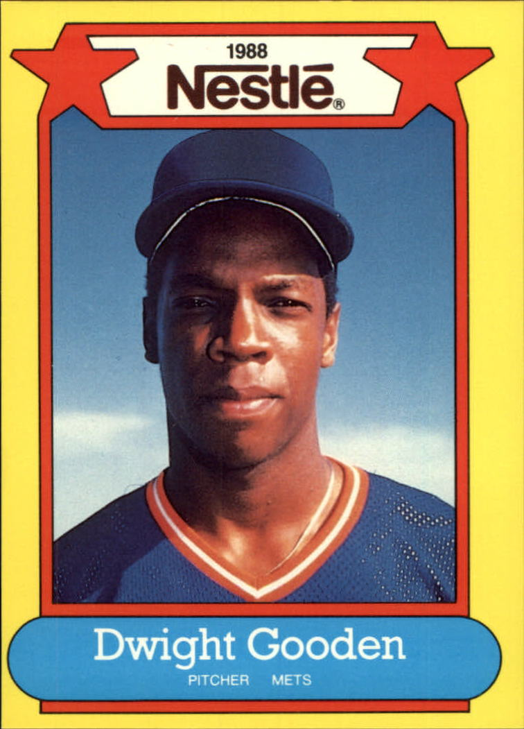 1988 Nestle Baseball Cards     021      Dwight Gooden