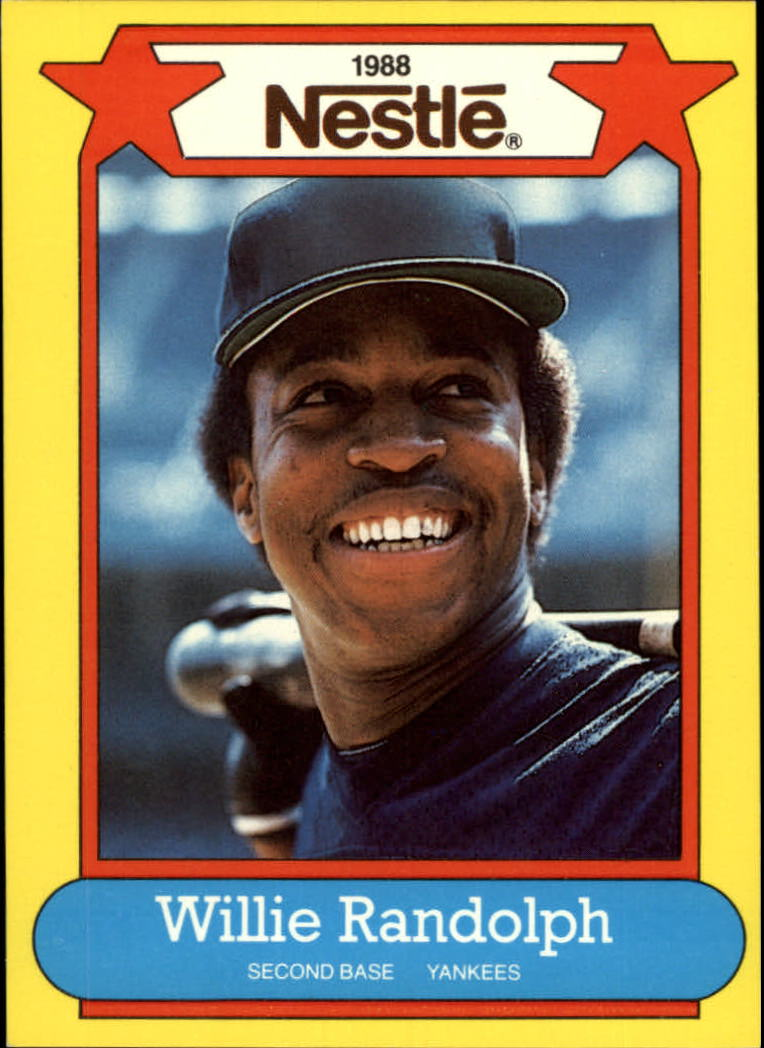 1988 Nestle Baseball Cards     022      Willie Randolph