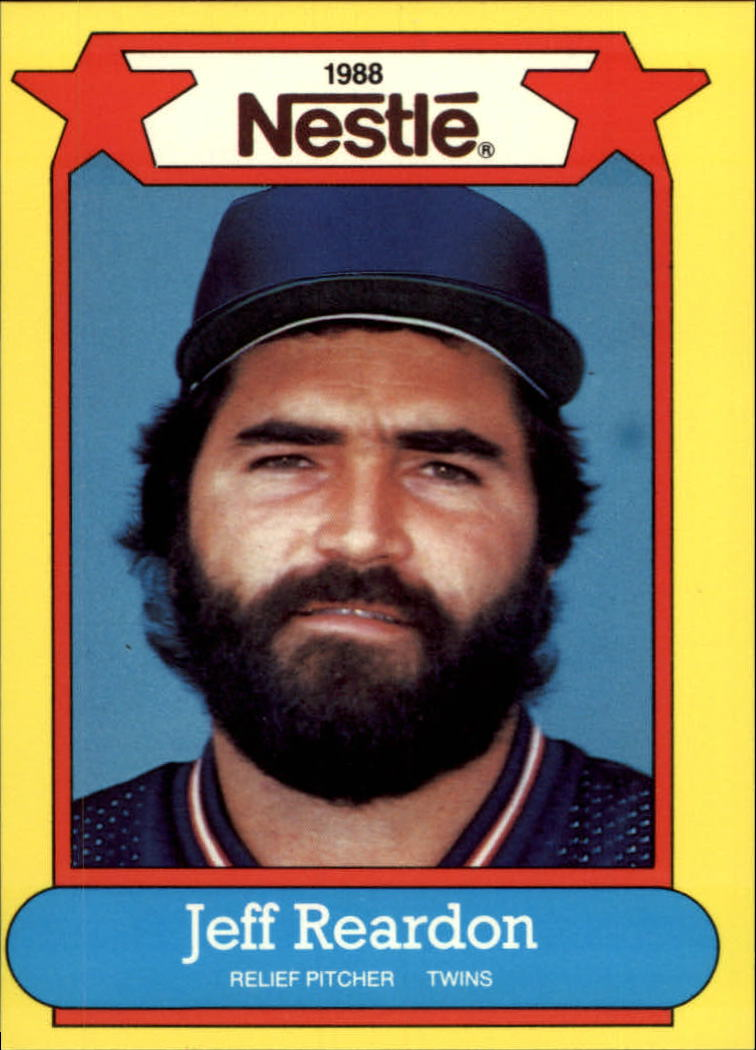 1988 Nestle Baseball Cards     027      Jeff Reardon