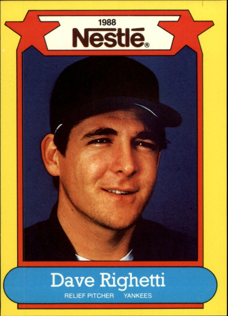 1988 Nestle Baseball Cards     028      Dave Righetti