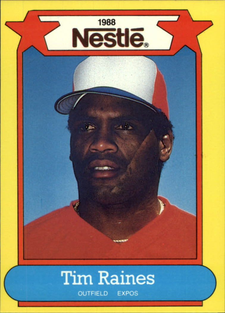 1988 Nestle Baseball Cards     031      Tim Raines