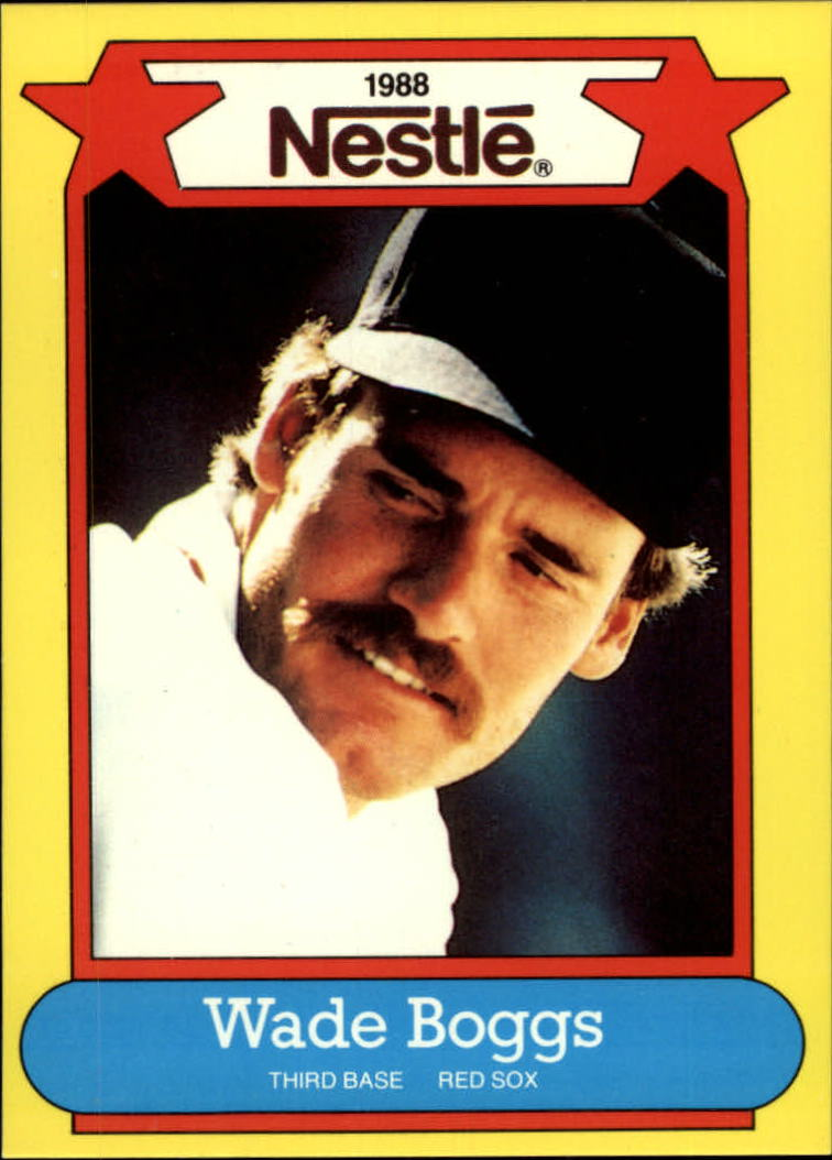 1988 Nestle Baseball Cards     032      Wade Boggs