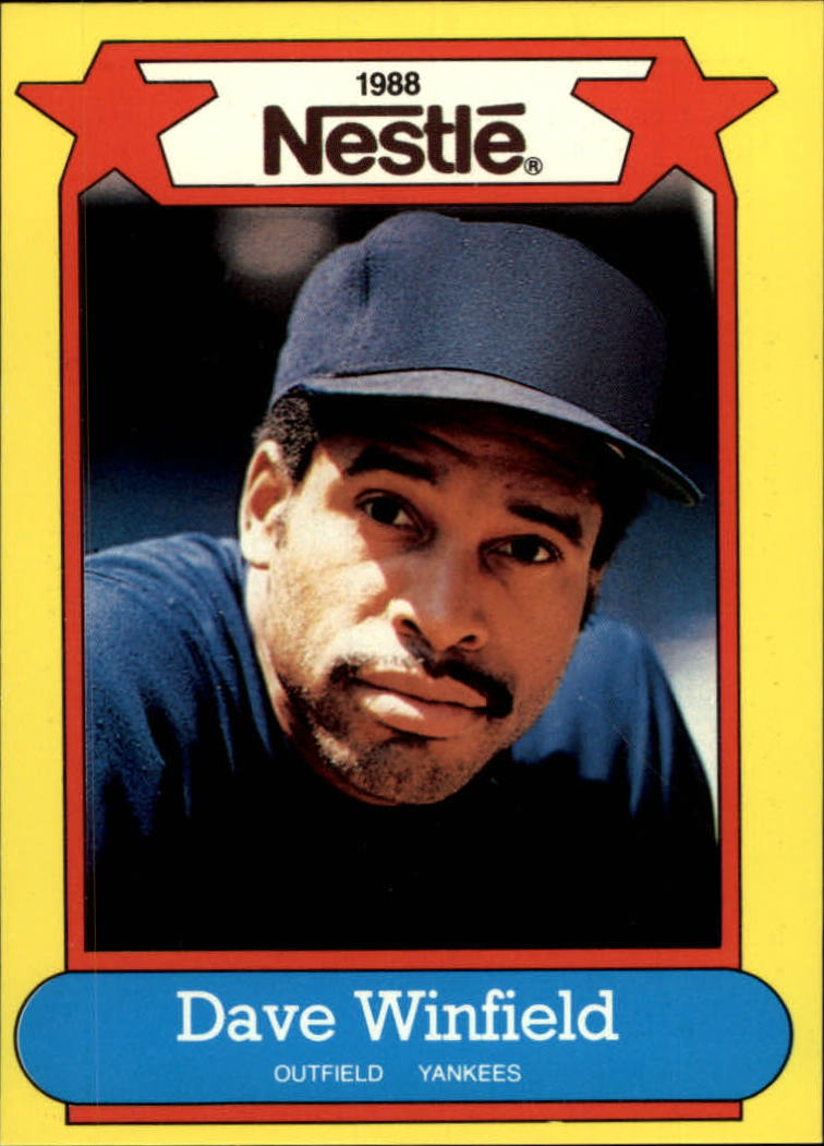 1988 Nestle Baseball Cards     033      Dave Winfield
