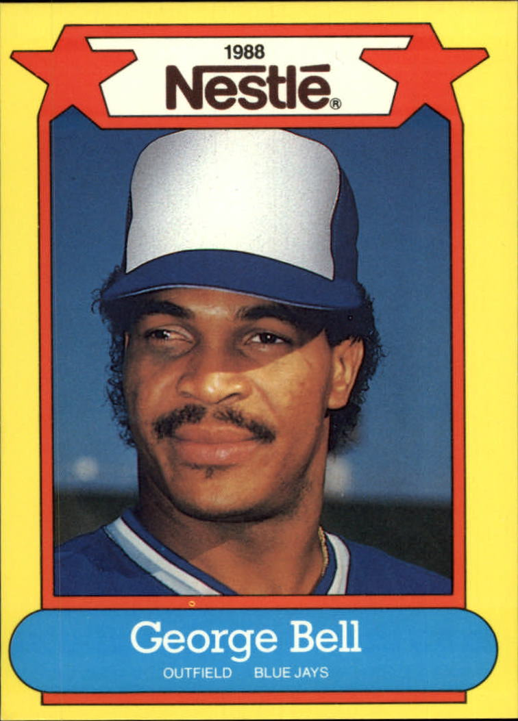 1988 Nestle Baseball Cards     034      George Bell