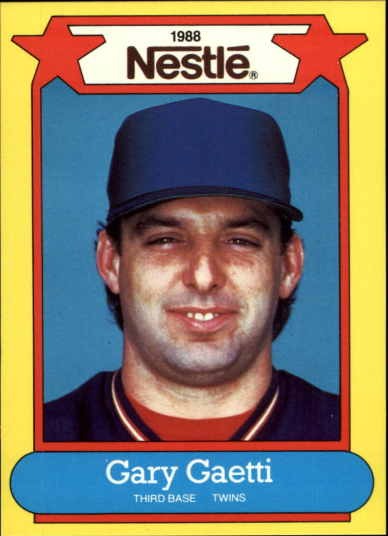 1988 Nestle Baseball Cards     004      Gary Gaetti