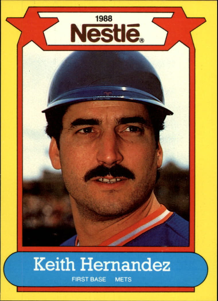 1988 Nestle Baseball Cards     042      Keith Hernandez