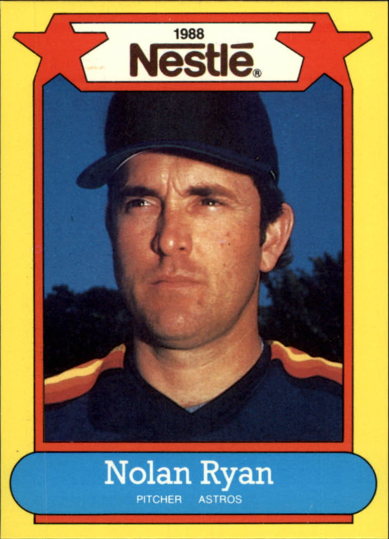 1988 Nestle Baseball Cards     043      Nolan Ryan