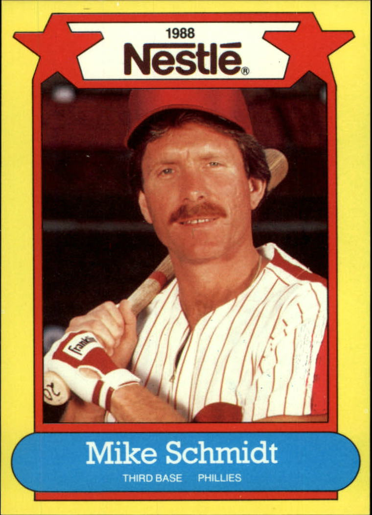 1988 Nestle Baseball Cards     006      Mike Schmidt