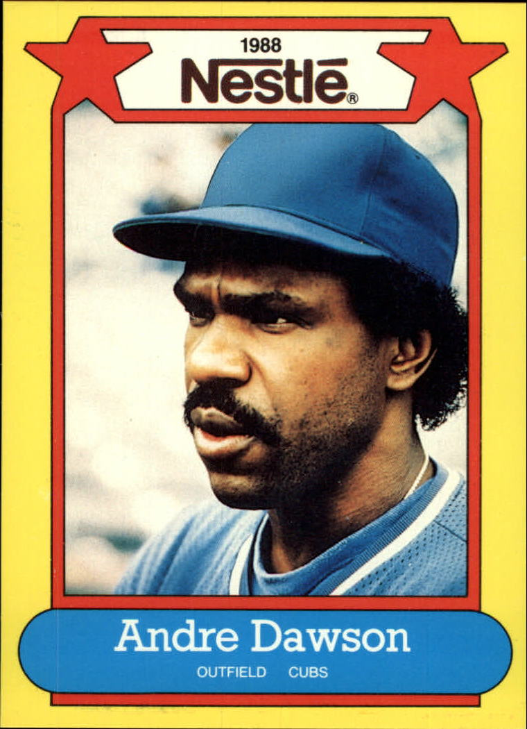 1988 Nestle Baseball Cards     009      Andre Dawson