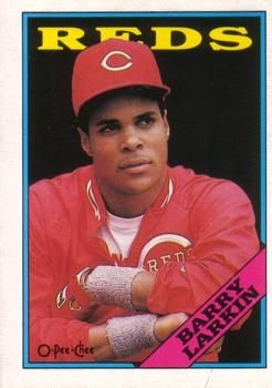 1988 O-Pee-Chee Baseball Cards 102     Barry Larkin