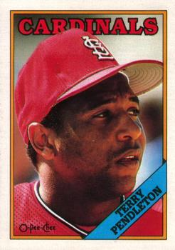 1988 O-Pee-Chee Baseball Cards 105     Terry Pendleton