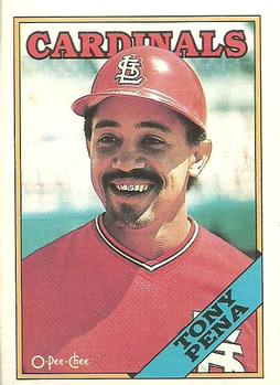 1988 O-Pee-Chee Baseball Cards 117     Tony Pena
