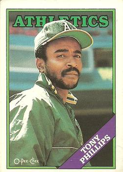 1988 O-Pee-Chee Baseball Cards 012      Tony Phillips