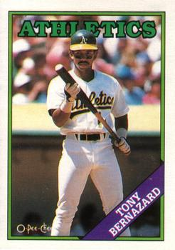1988 O-Pee-Chee Baseball Cards 122     Tony Bernazard