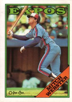 1988 O-Pee-Chee Baseball Cards 138     Mitch Webster