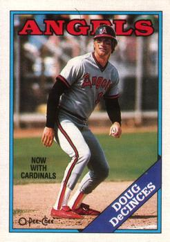 1988 O-Pee-Chee Baseball Cards 141     Doug DeCinces#{Now with Cardinals