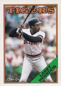 1988 O-Pee-Chee Baseball Cards 146     Larry Herndon
