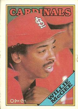 1988 O-Pee-Chee Baseball Cards 160     Willie McGee
