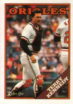 1988 O-Pee-Chee Baseball Cards 180     Terry Kennedy