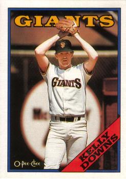 1988 O-Pee-Chee Baseball Cards 187     Kelly Downs