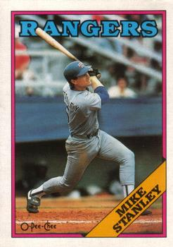 1988 O-Pee-Chee Baseball Cards 219     Mike Stanley