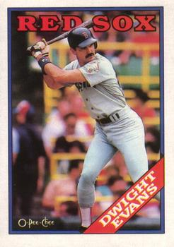 1988 O-Pee-Chee Baseball Cards 221     Dwight Evans