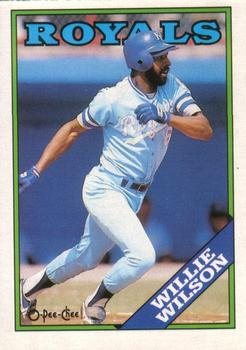 1988 O-Pee-Chee Baseball Cards 222     Willie Wilson