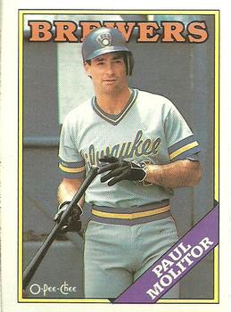 1988 O-Pee-Chee Baseball Cards 231     Paul Molitor